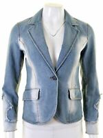 MAX & CO. Womens Denim Jacket UK 8 Small Blue Cotton  FN13