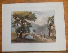 1821 Print, Aquatint Tour of English Lakes///GRISEDALE PIKE