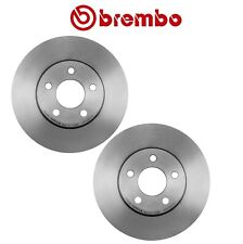 Pair Set of 2 Disc Brake Rotors Brembo 257x22mm 5 Lugs for Dodge Plymouth Neon