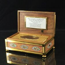 Halcyon Days Enamel Music Box Design inspired by gold box Paris during Louis Xvi