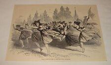 1879 magazine engraving ~ RACE OF SHEPHERDESSES, Germany