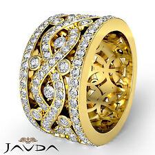 Twist Pave Round Diamond Band Womens Eternity Wedding Ring 14k Yellow Gold 2.5Ct