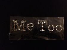 I Do & Me too Clear Crystal Rhinestone Wedding Shoe Sticker Decal for Photos