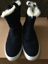 Navy Suede Boots, Size 39, From Zara