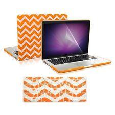 "Matte Chevron ORANGE Case +Keyboard Cover +LCD for Macbook Pro15"" Retina A1398"