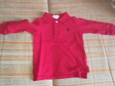 Polo Ralp Lauren bambino/neonato maniche lunghe originale rossa (Taglia 9 mesi)