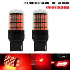 7440 Red LED Bulb 144 SMD Canbus Error Free High Lumen for Turn Signal Light