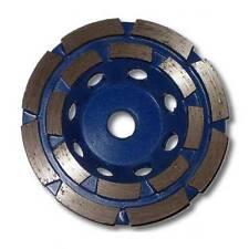 "KENT Premium 4in Grit 30~40 Double Row Diamond Cup Grinding Wheel, 5/8""-11 Arbor"