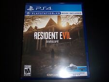 Replacement Case (NO GAME) RESIDENT EVIL BIOHAZARD PlayStation 4 PS4 Box