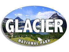 3x5 inch Oval GLACIER National Park LAKE Sticker - rv hike montana canada bumper