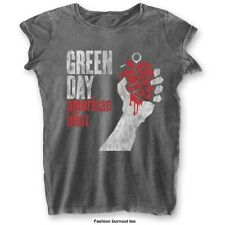 Extra Small Charcoal Grey Ladies Green Day American Idiot Vintage T-shirt -