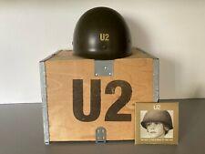 U2 BEST OF 1980-1990 UK PROMO HELMET (CASQUE) IN WOODEN BOX 1 OF 150 COPIES & CD