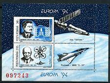 Europa 1994 Rocket Jet Plane mnh Souvenir Sheet Romania #C287