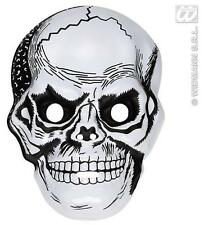 PLASTICA BIANCA Teschio Maschera Scheletro Skeletor HALLOWEEN FANCY DRESS