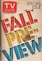 1975 TV Guide Fall Preview-Saturday Night Live begins;Phyllis;Welcome Back Kottr