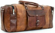 Different Sizes Duffle Genuine Vintage Leather Luggage Travel Gym Holdall Bag