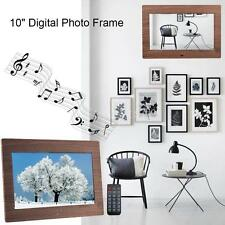 "10"" LED Digital Photo Frame Picture Full HD Clock Video Player + Remote Control"