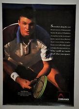 DAVID WHEATON 'The Will to Win and the Racquet' Head Tennis Poster Vintage (268)