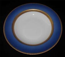 Faberge ATHENA Wide Rimmed Soup Bowl, Blue Border, Gold Greek Key