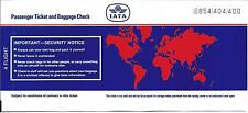 Airline Ticket - IATA - 4 Flight Format - c1993 - With Security Notice (T365)