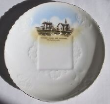 Antique Creighton Nebraska Souvenir Saucer Methodist Church Parsonage Philbrick