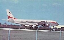 National Airlines Douglas DC-8  Airplane Postcard