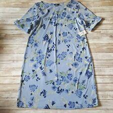 KAREN SCOTT Sport Dress Size 1X Blue Floral New