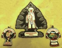 Lot of 3 Vintage 1960's BSA Patches - Amaquonsippi Trail - Boy Scout Collectible