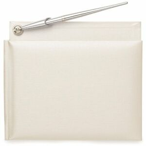 Wilton 120-082 Pearl White Wedding Guest Book & Silver Pen