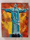 "Christ The Redeemer 8""x10""x1"" Painting on Canvas - Rio de Janeiro Jesus Catholic"