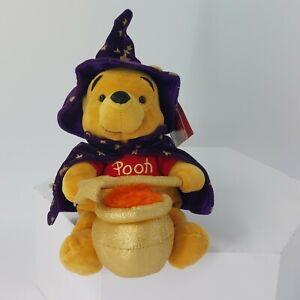 "Pooh Bear Wizard 8"" purple star cauldron"