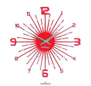 """Crystal Wall Clock Home Decor Interior 40cm(15.75"""") - Red / Fast Shipping"""