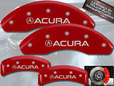 "2001-2003 ""Acura"" CL Type S Base Front + Rear Red MGP Brake Disc Caliper Covers"