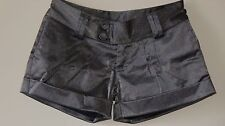 MOONRIVER SILVER-GREY SLIGHTLY SHIMMERING DISCO HOT SHORTS - SIZE 6