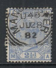 GB  QV    SG157   2½d Blue  plate 22  -  Fine Used with Manchester CDS