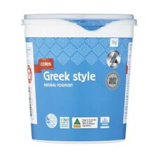 Coles Greek Style Natural Yoghurt 1kg