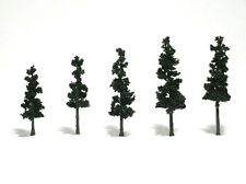 Woodland Scenics [Woo] Realistic Trees Conifer Green 2.5-4 Inch (5) Wootr1560