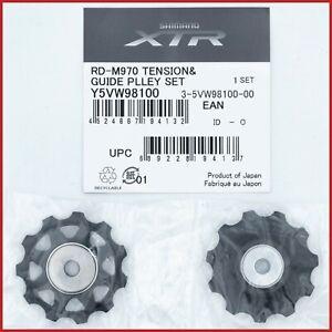 NOS XTR RD-M970 JOCKEYS PULLEYS VINTAGE MTB REAR DERAILLEUR Y5VW98100 MOUNTAIN
