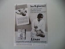 advertising Pubblicità 1977 PANNOLINI LINES