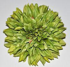 "7"" Harvest Autumn Green Dahlia Silk Flower BROOCH Pin Wedding"