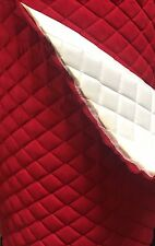 "Red Suede Quilted Auto Headliner Headboard Fabric with 3/8"" Foam Back by yard"