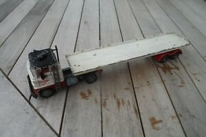 Corgi Ford Artic Container Truck in playworn condition.