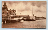 Venice, CA   PAVILION & CABRILLO SHIP EARLY 1900s SEPIA TONE POSTCARD