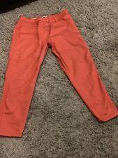 Woman's Inspire Coral Denim Crop Jeans Size 18
