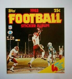 VTG 1983 TOPPS FOOTBALL STICKER BOOK  unused no stickers