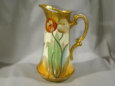 """LARGE PICKARD CHINA HAND PAINTED POPPIES TANKARD PITCHER - 10 1/2"""""""