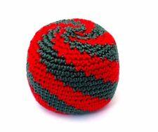 Hacky Sack Green Red Swirl Boota Bag Crochet Footbag Guatemalan Kick Bag