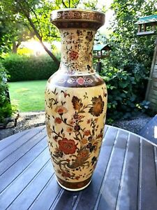 Porzellan+Boden - Vase +CHINA +Höhe 60 cm +Öffnung -16 cm +Nachlaß+ Sammler !