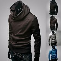 New fashion Korean men's slim fit hoodie sweater cardigan jacket coat/sweatshirt