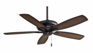 """MinkaAire Kola 52"""" 5 Blade Indoor Ceiling Fan, Dark Brushed Bronze"""